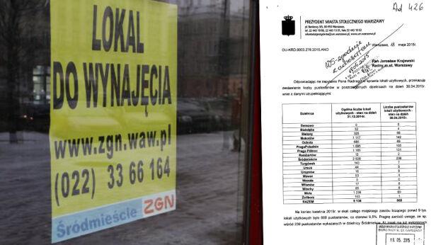 Co dziesiąty miejski lokal nie ma najemcy tvnwarszawa.pl / UM Warszawa