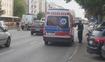 Motocyklista ranny <br />po zderzeniu na Grójeckiej