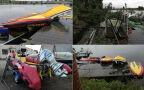 Trąba powietrzna zniszczyła łodzie WOPR