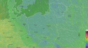 Prognoza temperatury w Polsce