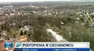 Alarm powodziowy w Płocku (TVN24)